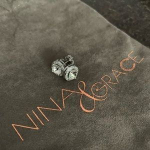 Nina and Grace Swarovski element earrings 3.44CTTW